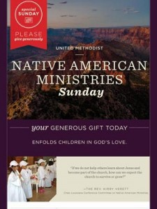 Native American Ministries Sunday, UMC