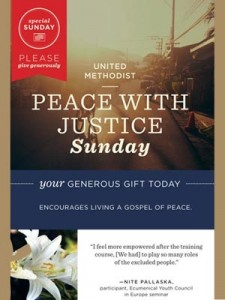 Peace With Justice Sunday, UMC