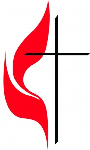 The United Methodist Church of Greater New Jersey cross and flame
