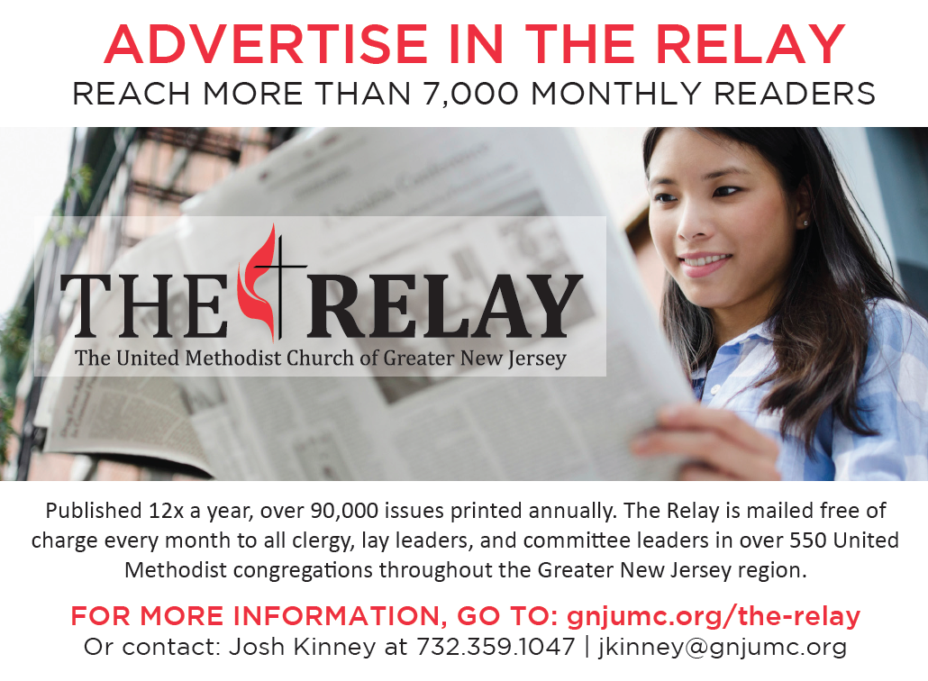 The Relay, Advertisement, GNJ, GNJUMC, UMC, New Jersey, GNJ, Newspaper, Ad