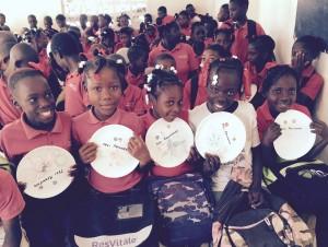 Children in Haiti, GNJ volunteers, Clean water option to Haiti