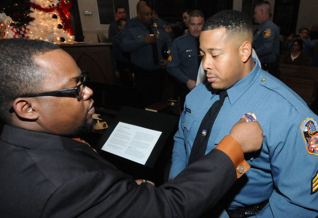 Clergy Bless Badges of First Responders | United Methodist