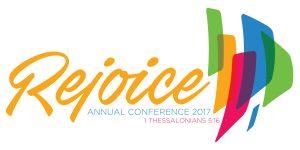 Rejoice logo, Annual Conference 2017, GNJUMC, UMC, The United Methodist Church of Greater New Jersey, Bishop John Schol