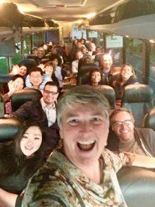 Ohio, Columbus, bus ride