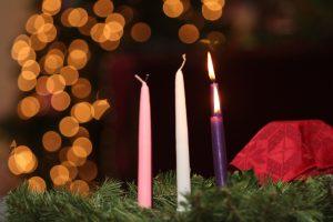 advent, umc, candles, chrism