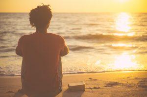 waiting, prayer, beach,
