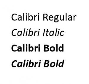 Calibri Italic
