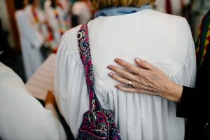 hands, prayer, comfort, annual conference 2019, ordination, clergy