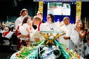 baptism, bishop john schol, elba pillot, jackie stow pillot, pedro pillot