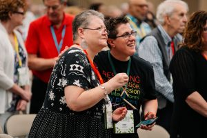 Sarah Grant, clergy, lgbt, Diane Gilbert, annual conference 2019