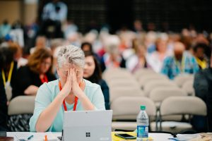 gina hendrickson, pray, prayer, annual conference 2019