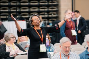 Catherine Williams, African American Woman, praise, worship, annual conference 2019