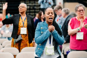 prayer, african american woman, annual conference 2019