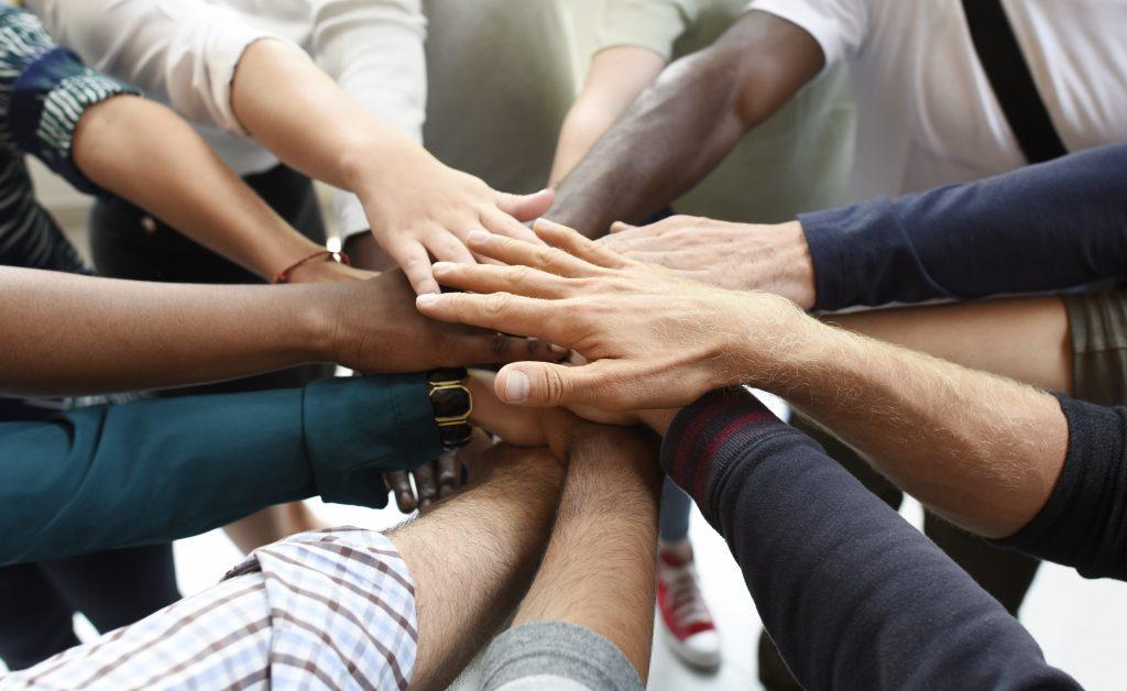 Startup Business People Teamwork Cooperation Hands Together
